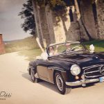 Emma robin bridal car their wedding in Borgo santo Pietro