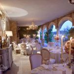 Emma robin table setting of wedding tuscany