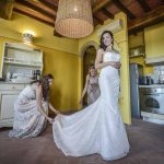 Megan preparation for her wedding in tuscany