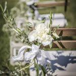 Megan Nicholas flower setting for wedding in tuscany