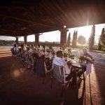 Megan Nicholas reception setting fotr their wedding tuscany