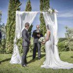 Megan Nicholas ceremony for their tuscan wedding