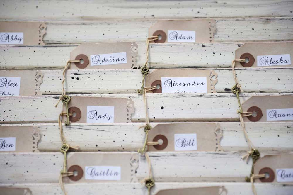Original Tuscan wedding Placecard