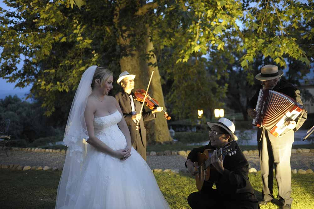 Serenade for bride during a wedding