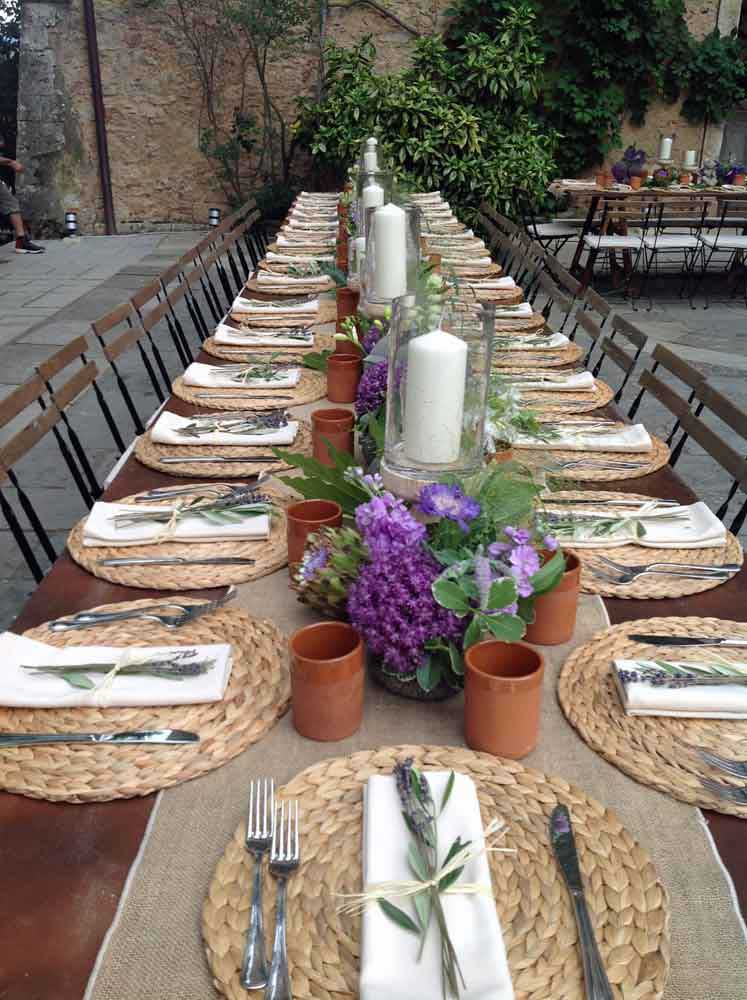 Table settings country chic tuscany