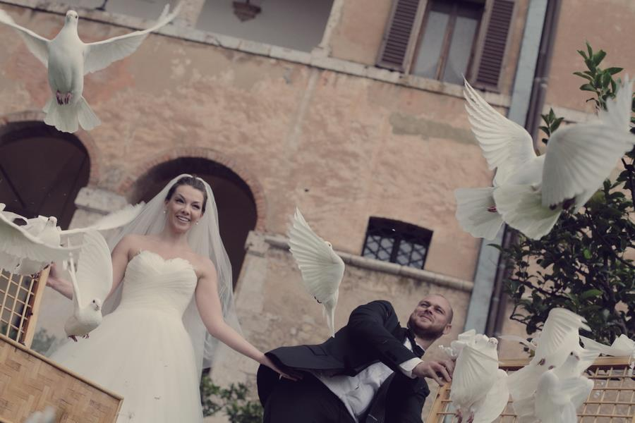 Wedding Releasing of Doves Ceremony