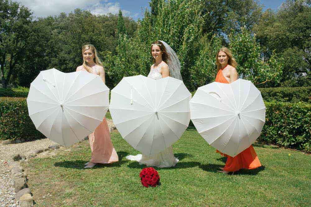 bridesmaids white wedding style