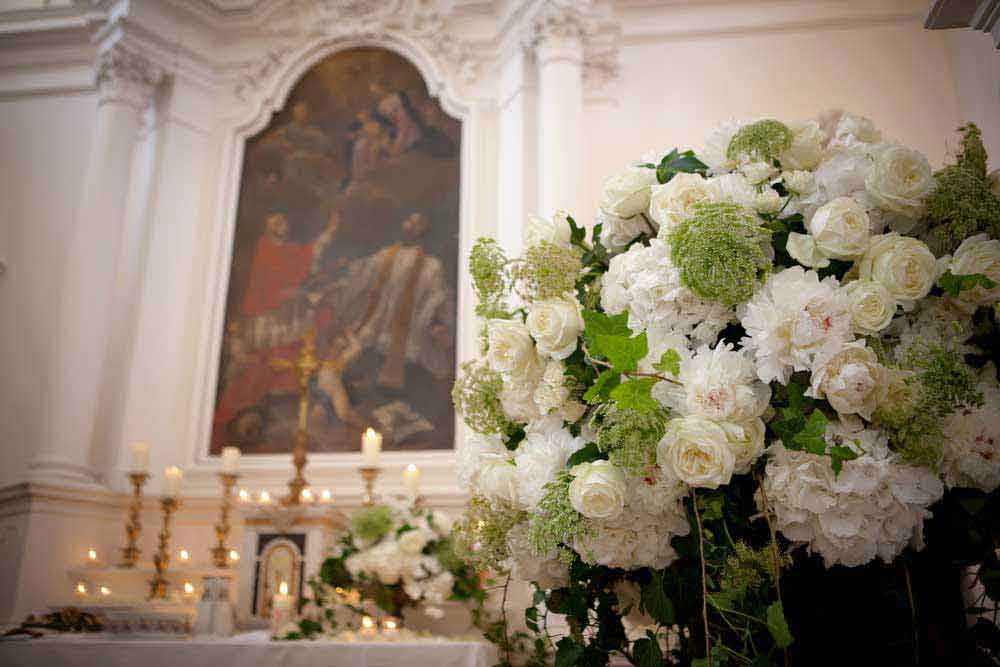 flower church white style