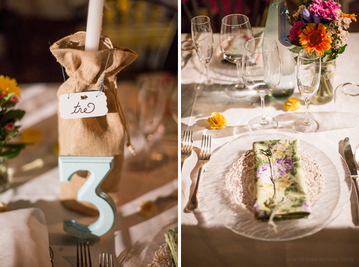 set arrangement wedding bohemian style
