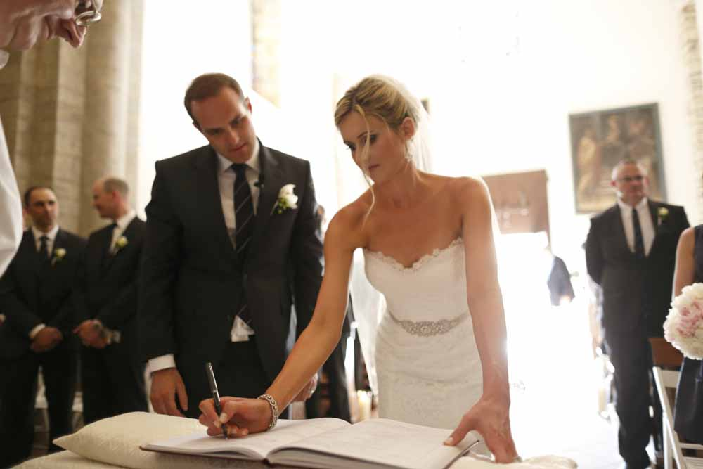religious documents for wedding tuscany