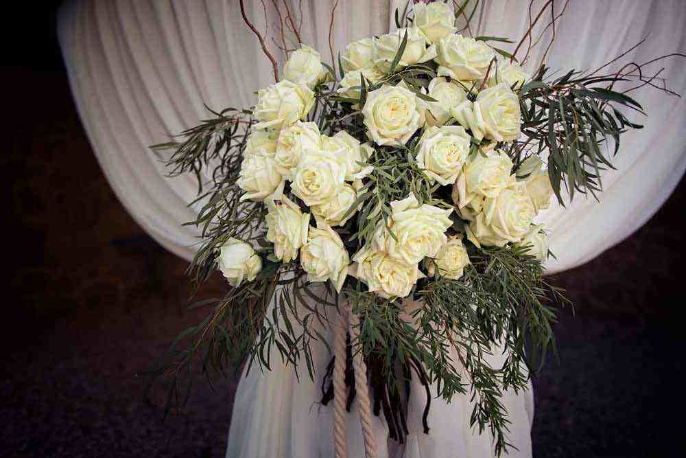 white flower tuscan wedding