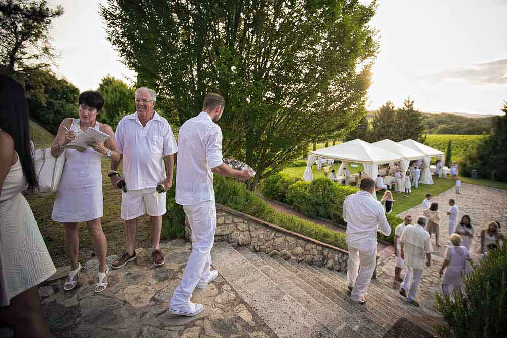 white theme wedding tuscany