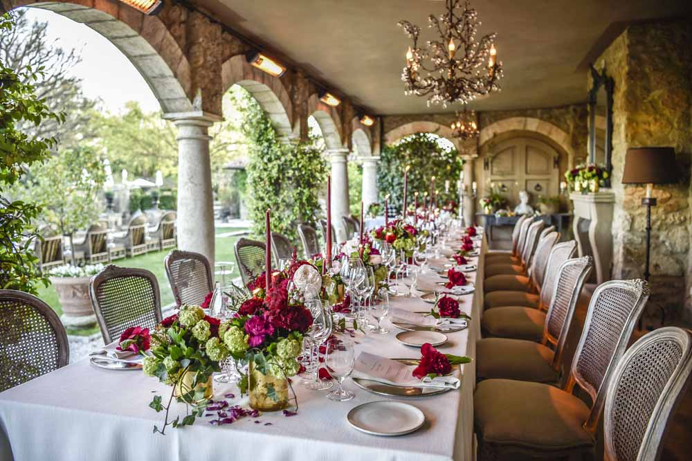 table settings wedding at Borgo santo Pietro