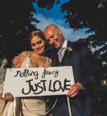cat dan wedding just married