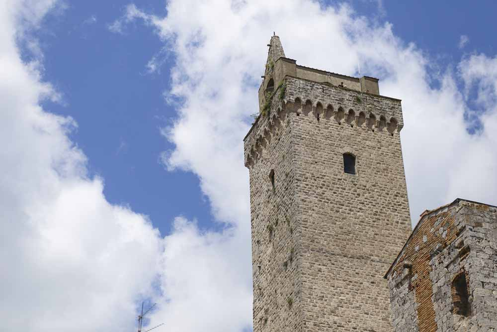 Magic Tower in ancient village in tuscany