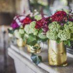 flower decoration in Tuscan wedding