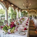 reception setting at Borgo santo pietro
