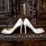 Wedding bride shoeswhite