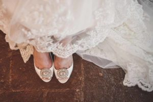Wedding bride shoes White