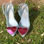 Wedding bride shoes romantic