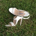 Wedding bride shoes rural chic