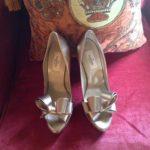 Wedding bride shoes chic silver