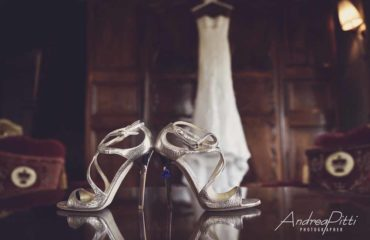 Wedding bride shoes Silver light