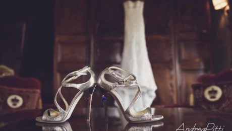 Wedding bride shoes Silver light