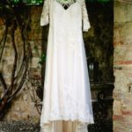 Romantic elopment in tuscany dress