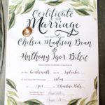 Romantic elopment in tuscany certificate