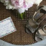 Bouquet shoes karen bride wedding in tuscany