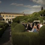reception wedding at villa la foce Karen