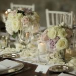 reception flower wedding tuscany keren - Andrea at villa la foce